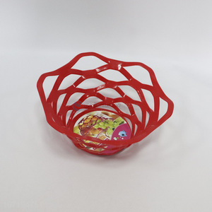 Good quality home kitchen decorative fashion plastic fruit basket
