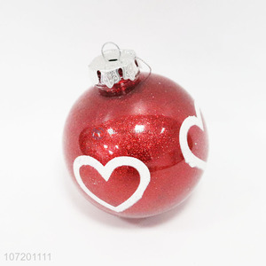 New items 75mm hand painted Christmas ball for Christmas tree decoration