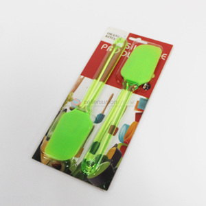 Promotional popular kitchen supplies 2 pieces reusable bpa free silicone spatula
