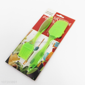Suitable price kitchenware 2 pieces eco-friendly bpa free silicone spatula and brush set