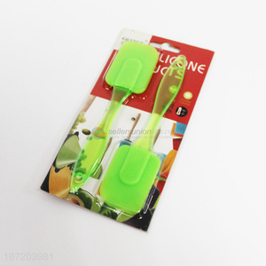 Wholesale cheap kitchen utensils 2 pieces food grade silicone scrapers
