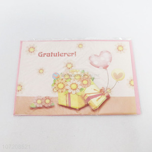 Promotional Christmas Greeting Card Fashion Paper Greeting Cards