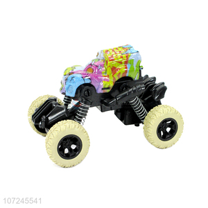 China supplier temperature variation pull-back rock crawler swing car for kids