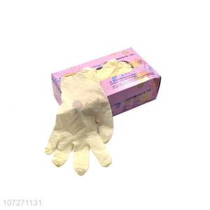 Hot selling powder free disposable latex examination gloves safety gloves
