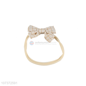 Custom Plaid Bowknot Hair Band Fashion Kids Headband