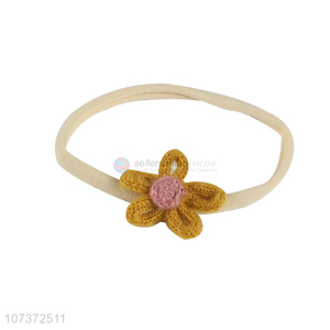 New Arrival Elastic Headband With Woolen Flower
