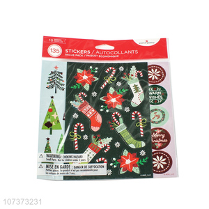 Hot products self-adhesive paper Christmas stickers for decoration