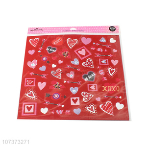 Popular products heart stickers self-adhesive paper stickers for decoration