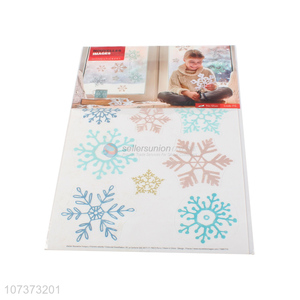 Best selling reusable window static cling sticker snowflake stickers