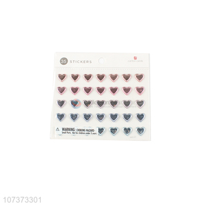 Latest design puffy laser heart stickers 3d stickers