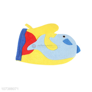 Good Sale Colorful Fish Bath Scrubber Bath Gloves