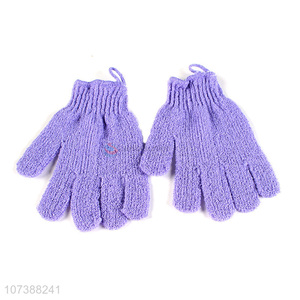 New Arrival Five Fingers Nylon Exfoliating Bath Gloves