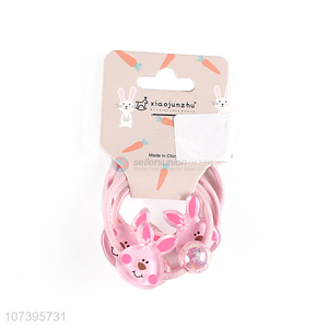 Latest arrival rabbit hair band hair ring hair circle for girls