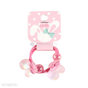 New design cherry hair rings kids hair tie girls hair circle