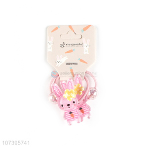 Popular products bunny hair bands children hair ties kids hair rings