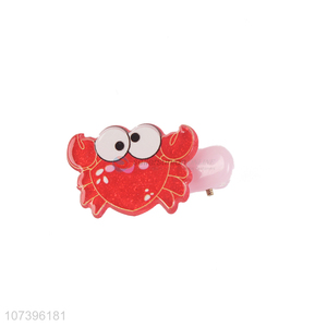 Cartoon Crab Acrylic Hair Clips Fashion Kids Hairpins