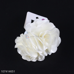 New products white rose flower hair bands for women and girls