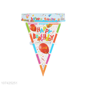 Wholesale paper bannners paper bunting flags for birthday party decoration
