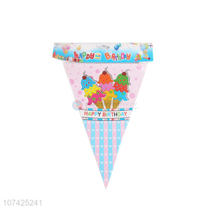 Low price birthday party decoration paper banner paper buntings