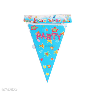 Promotional cheap birthday party supplies paper bunting flag banners