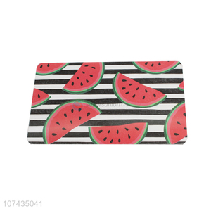 Good Price Watermelon Pattern Rectangle Placemat Cup Mat