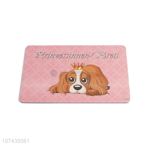 Latest Pet Dog Pattern Rectangle Cup Mat Colorful Placemat