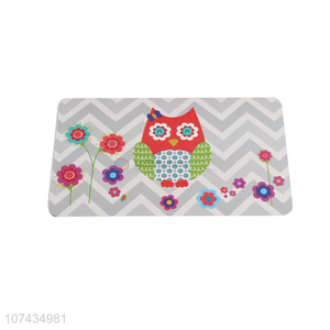 New Arrival Owl Pattern Rectangle Cup Mat Fashion Placemat