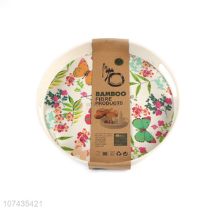 Creative Design Fashion Printing Bamboo Fibre Serving Tray