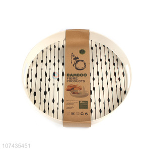New Style Round Bamboo Fibre Serving Tray Food Tray