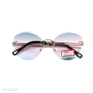 China supplier personalized women frameless sunglasses gradient sunglasses