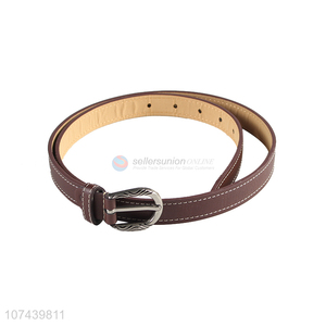 Excellent quality ladies pu belt with alloy pin buckle