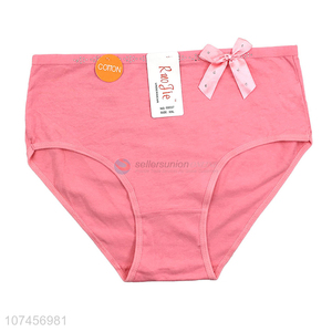 Fashion Bowknot Design Ladies Cotton Underpants Soft Briefs
