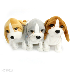 Hot Sale Soft Toys Comfortable Sitting Big Ear Beagle Dog Electric Toys
