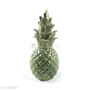 New Style Ceramic Pineapple Decorative Crafts Modern Gift