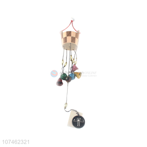 Suitable price wooden bucket wind chimes wind-bell for indoor decoration