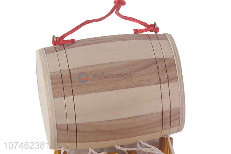 Low price wooden drum wind chimes wind-bell for indoor decoration