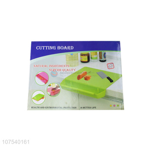 Hot selling kitchenware detachable chopping board with storage containers