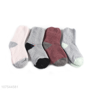 Hot Selling Winter Warm Comfortable Socks Half Fleece Socks