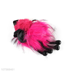 Popular products faux fur pom pom key chain bag charm fluffy sheep keyring