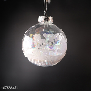 Fashion Design Transparent Christmas Ball For Christmas Decoration