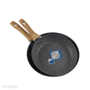Top Quality Aluminium Frying Pan With Flat Handle