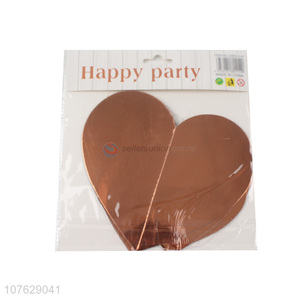 Fashion Rose Gold Heart Shape Paper Hanging Garland Banner For Sale