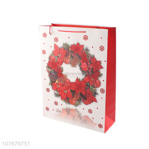 Low price christmas wreath decoration gift packaging bag tote bag