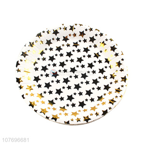 Hot product star printed disposable paper plate party plates