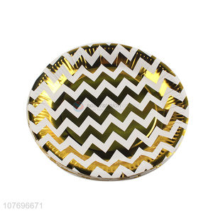 Wholesale fashion wavy pattern party plate party dinner plate