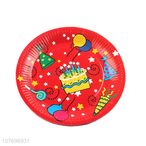 Wholesale popular birthday party tableware disposable paper plate dish