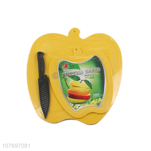 Wholesale high quality food grade plastic cutting board with knife