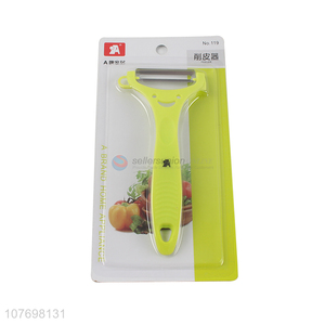 High Quality Plastic Handle Vegetable & Fruit Peeler For Kitchen