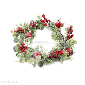 New arrival artificial red berry Chiristmas wreath for Christmas decoration
