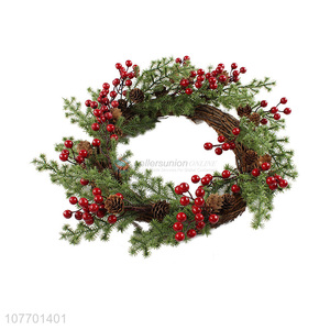 Good sale artificial red berry Christmas wreath for holiday decoration